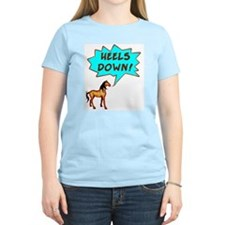 Heels Down with Horse  Women's Pink T-Shirt