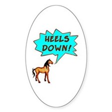 Heels Down with Horse Oval Decal