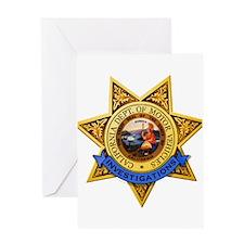 California DMV Investigator Greeting Card