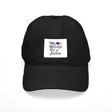 My Heart Belongs To A Soldier Baseball Hat
