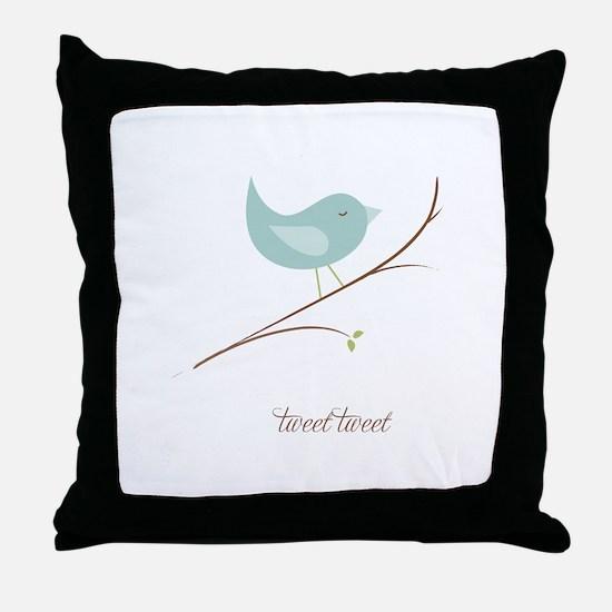 Tweet Bluebird Throw Pillow