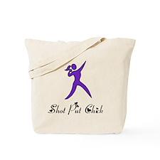 Shot Put Chick Tote Bag