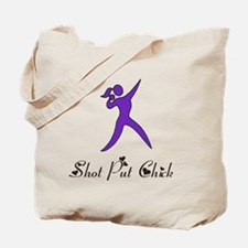 Shot Put Chick Tote Bag