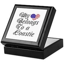 My Heart Belongs To A Coastie Keepsake Box