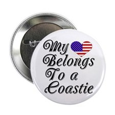 My Heart Belongs To A Coastie Button