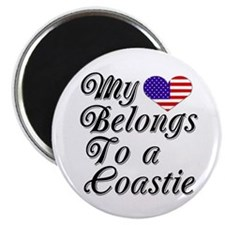 My Heart Belongs To A Coastie Magnet