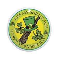 Kiss My Shillelagh Ornament (Round)
