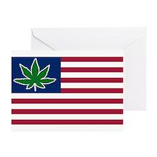US Pot Flag Greeting Cards (Pk of 10)