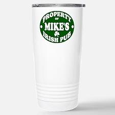 Mike's Irish Pub Stainless Steel Travel Mug