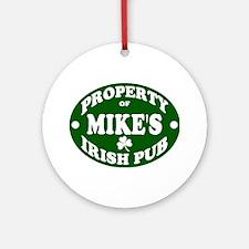 Mike's Irish Pub Ornament (Round)