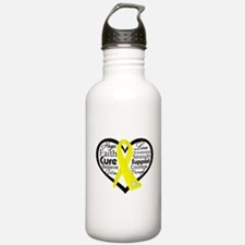 Sarcoma Cancer Heart Water Bottle