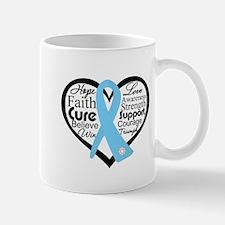 Prostate Cancer Heart Mug
