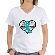 Heart Ovarian Cancer Shirt