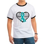 Heart Ovarian Cancer Ringer T