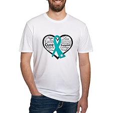 Heart Ovarian Cancer Shirt