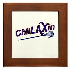 ChilLAXin Lacrosse Framed Tile