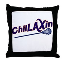 ChilLAXin Lacrosse Throw Pillow