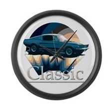 Ford mustang Large Wall Clock