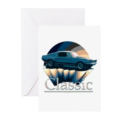 Ford mustang Greeting Cards (Pk of 10)