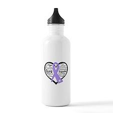 General Cancer Heart Water Bottle