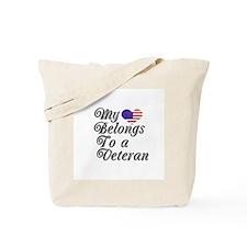 My Heart Belongs To A Veteran Tote Bag