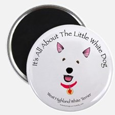 All About The Little White Dog Magnet