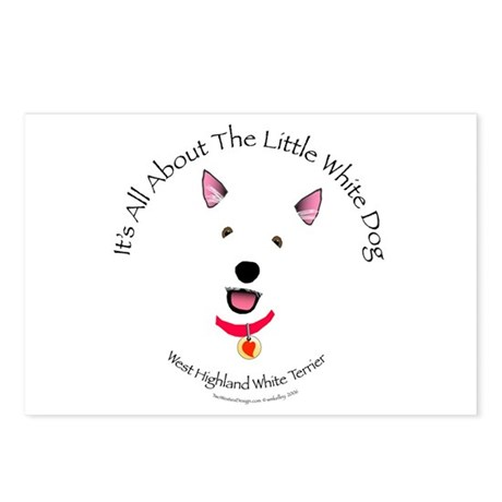 All About The Little White Dog Postcards (Package
