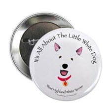 All About The Little White Dog Button