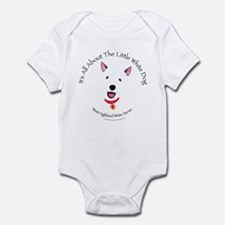 All About The Little White Dog Infant Creeper