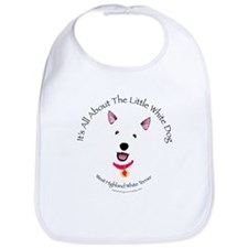 All About The Little White Dog Bib
