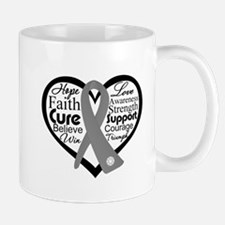 Brain Cancer Heart Mug