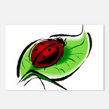 Ladybug Hugs Postcards (Package of 8)