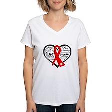 Blood Cancer Heart Shirt