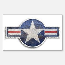 USAF US Air Force Roundel Sticker (Rectangle)