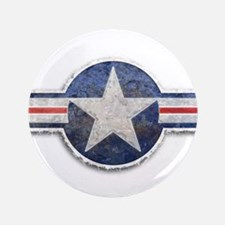 """USAF US Air Force Roundel 3.5"""" Button"""