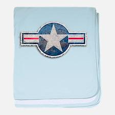 USAF US Air Force Roundel baby blanket