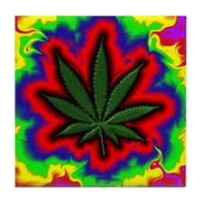 Pot Leaf Tile Coaster