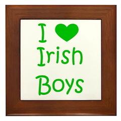 I Heart Irish Boys Framed Tile