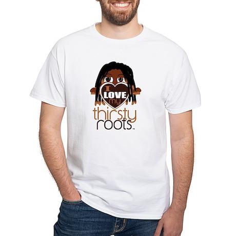 Men - Dreadlocks White T-Shirt