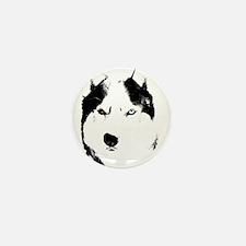 Siberian Husky Sled Dog Mini Button (10 pack)