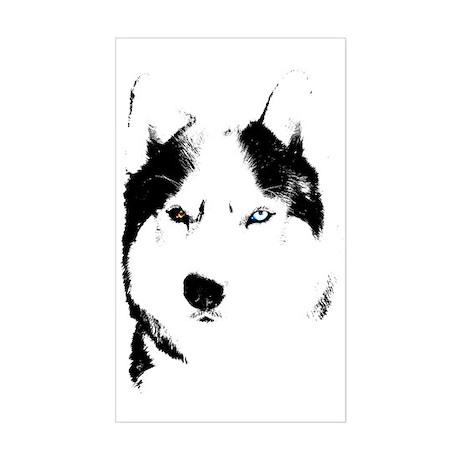 Siberian Husky Sled Dog Sticker (Rectangle)