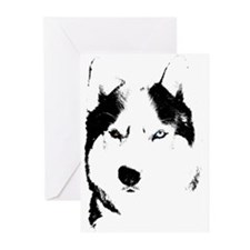 Siberian Husky Cards Sled Dog Greeting Cards 20pk