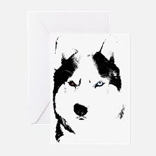 Siberian Husky Cards Sled Dog Greeting Cards 10pk