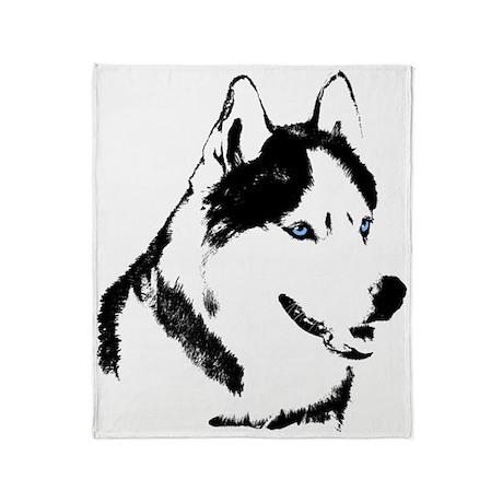 Siberian Husky Blanket Sled Dog Throw Blanket By Husky Gifts