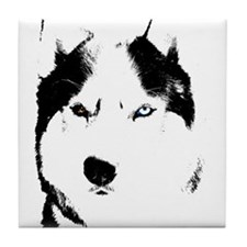 Siberian Husky Coasters Sled Dog Tile Coaster