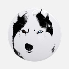 Siberian Husky Sled Dog Ornament (Round)