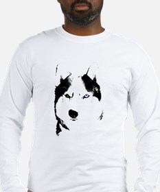 Siberian Husky Sled Dog Long Sleeve T-Shirt
