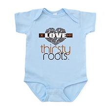 Brown Heart Hair Terms Infant Bodysuit