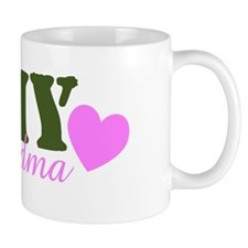 Army Grandma Green & Heart Small Mug