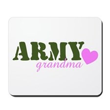 Army Grandma Green & Heart Mousepad
